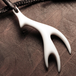 Vertical Antler Bone Carving by Tim Jepson